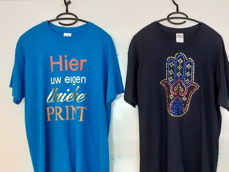 Eigen ontwerp T-shirts bij het Maliegilde