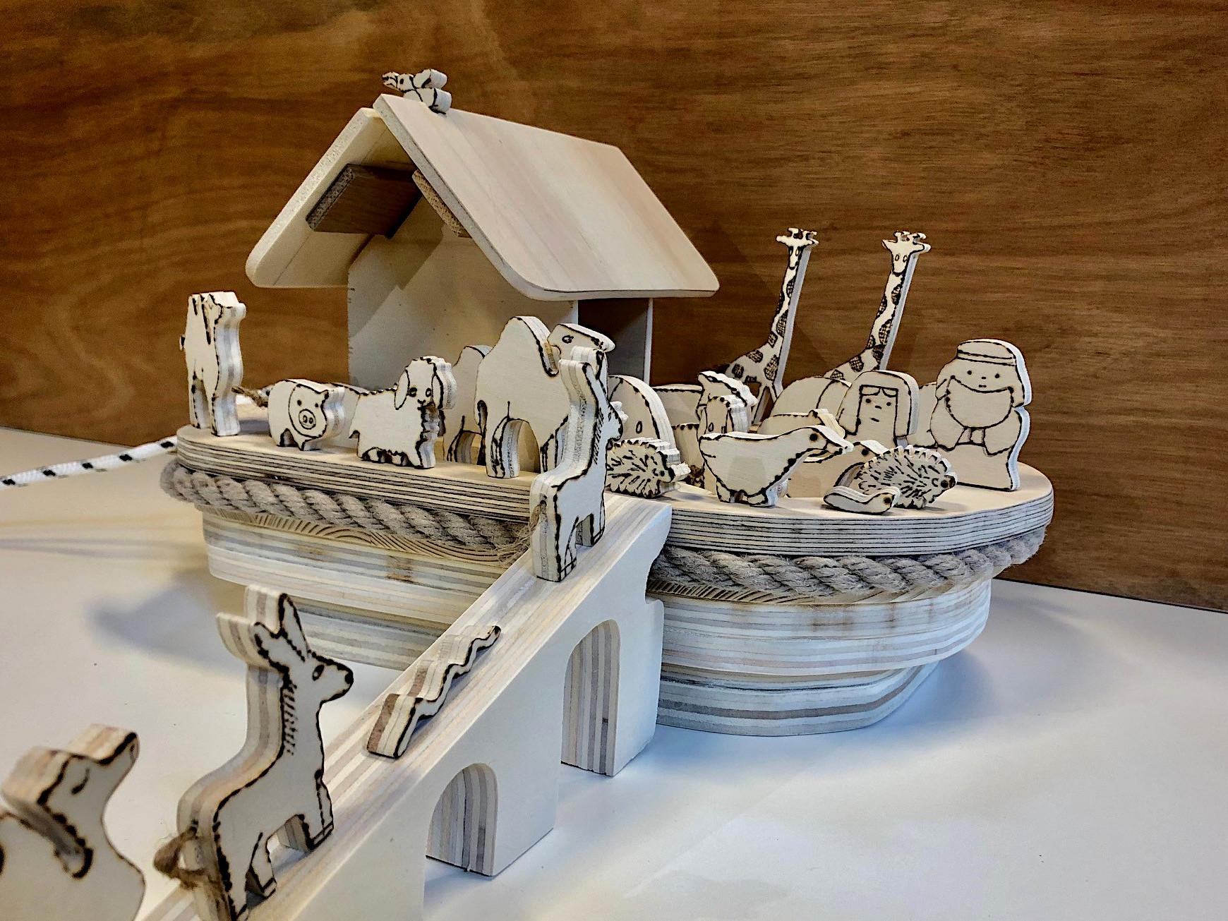 Je bekijkt nu Ger maakte een Ark van Noach bij Strooij Actief